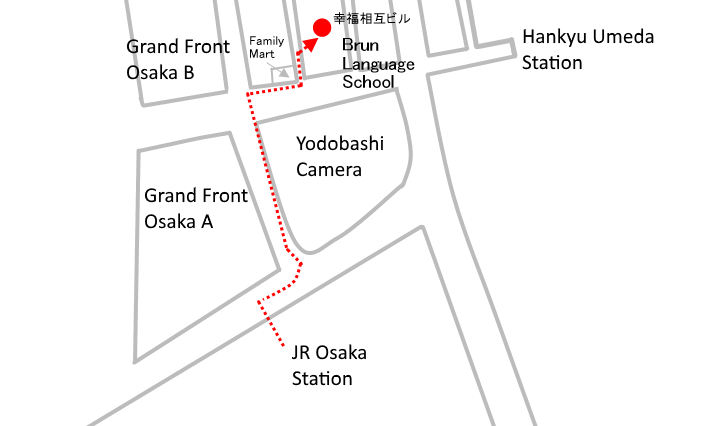 Access from JR Osaka Station