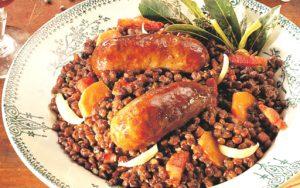 Leçon de cuisine【ソーセージとレンズ豆の煮込み】